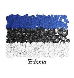 Love estonia tallinn flag heart glossy mosaic vector
