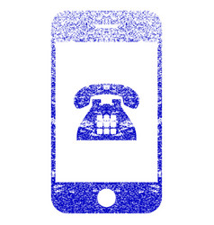 Mobile phone textured icon vector