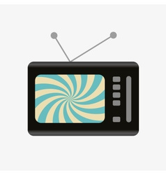 Old and retro television with hypnotic screen icon vector