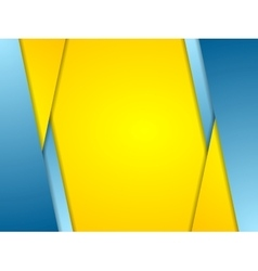 Orange blue contrast corporate background vector