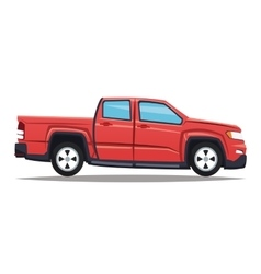 Pickup vehicle and transportation design vector