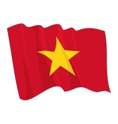political waving flag of vietnam vector image vector image