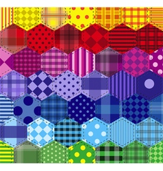 Seamless background 46 geometric patterns vector image vector image