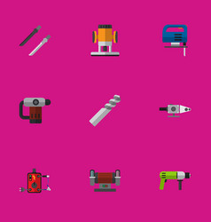 set of 9 editable instruments icons includes vector image vector image