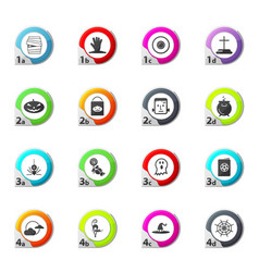 Set of halloween icons set vector