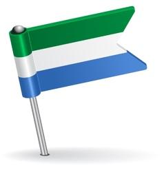 Sierra leone pin icon flag vector