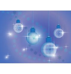 Snowflakes crystal bulb vector image vector image