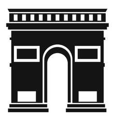 Triumphal arch icon simple style vector
