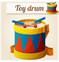 Vintage toy drum Cartoon vector image