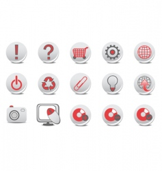 website and internet buttons vector image vector image