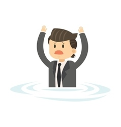 businessman in water icon vector image