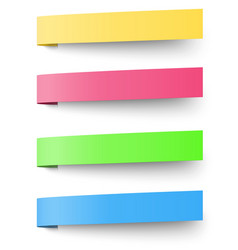 Yellow red blue and green sticky notes isolated vector