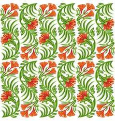 Seamless pattern with red flowers vector image
