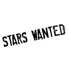 Stars wanted rubber stamp vector