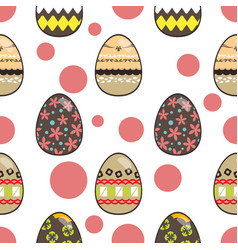 Pattern for happy easter day vector