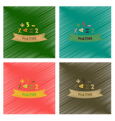 assembly flat shading style icons math lesson vector image