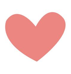 Pink heart romance love decoration vector