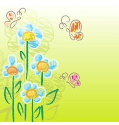 Charcoal flowers vector
