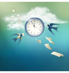 Time abstract concept design vector