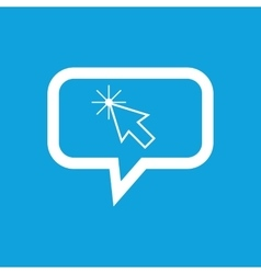 Arrow cursor message icon vector