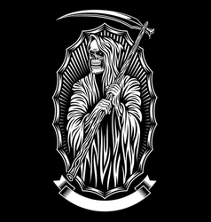 Grim reaper art vector