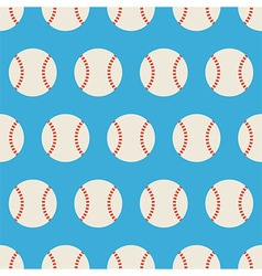 Flat seamless sport and recreation baseball vector