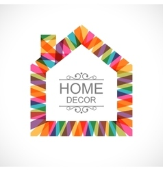 Creative house decoration icon vector image