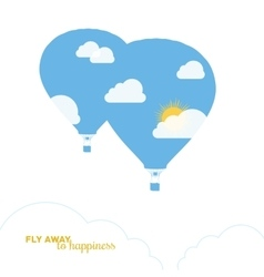 Hot air balloon colorful abstract vector