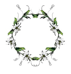 Passiflora white wreath2 vector