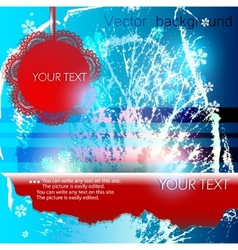 abstract winter background with space for text vector image