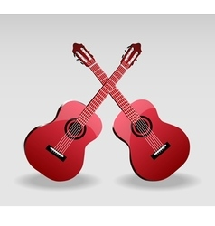 Detailed of classical guitar vector