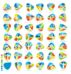 Olympics icon pictograms set 1 vector