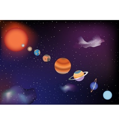 Parade of planets vector