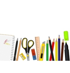 Set of school supplies vector