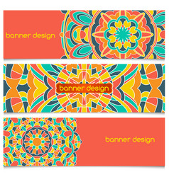 abstract geometric header background vector image vector image