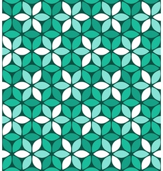 Abstract green floral pattern vector image vector image