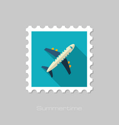 Aircraft stamp travel summer vacation vector