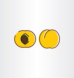 Apricot icon symbol sign vector