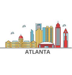 Atlanta city skyline buildings streets vector