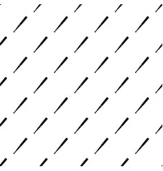 Black baseball bat pattern vector