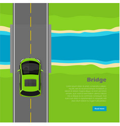 Bridge conceptual flat web banner vector