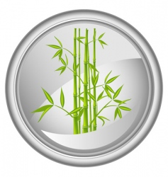 button with a bamboo vector vector image