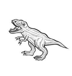 Carnivorous dinosaur vector
