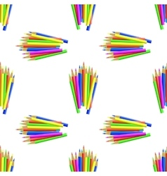 Colorful Pencils Seamless Pattern vector image vector image