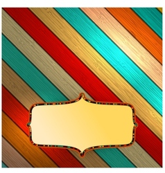 Colorful wooden with copyspace EPS10 vector image