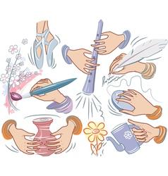 creative hands vector image