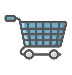 ecommerce solutions flat icon seo vector image vector image