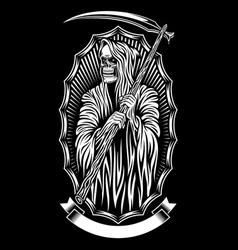 Grim reaper art vector