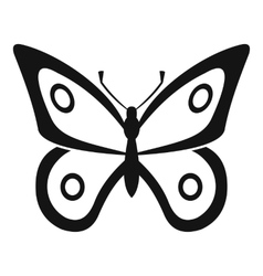 Little butterfly icon simple style vector
