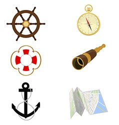 Navigation set vector image vector image